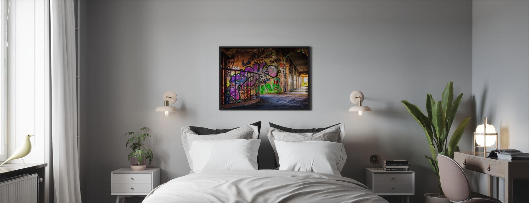Colorful Grafitti - Gerahmtes bild - Schlafzimmer
