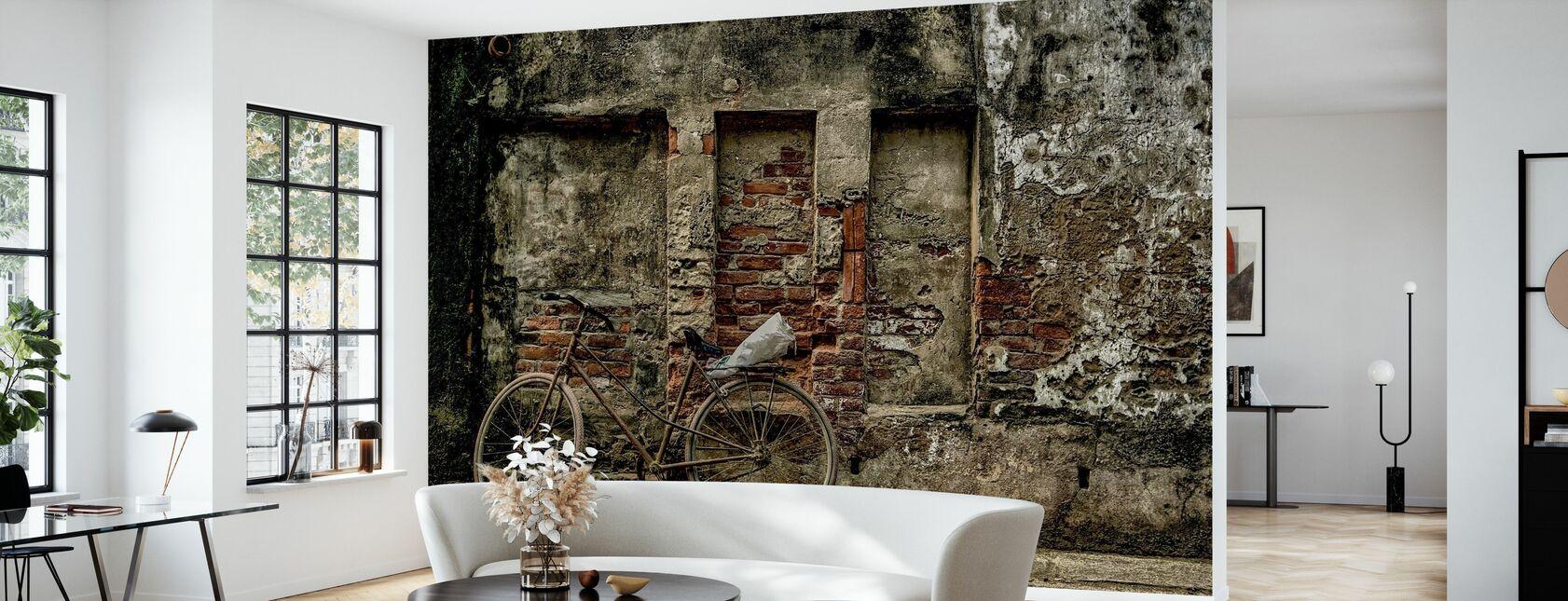 Gammel Rusten Cykel - Tapet - Stue