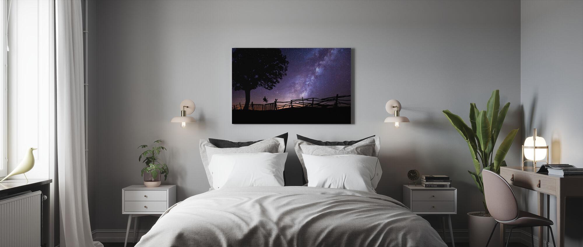 Starry Night Sky - Canvas print - Bedroom