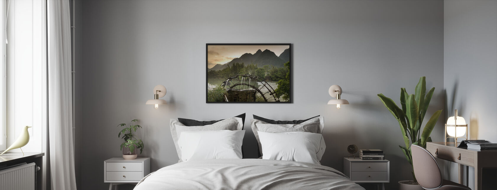 Rivier wiel - Poster - Slaapkamer