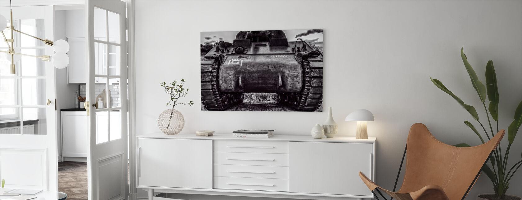 Oude Oorlog Tank - Canvas print - Woonkamer