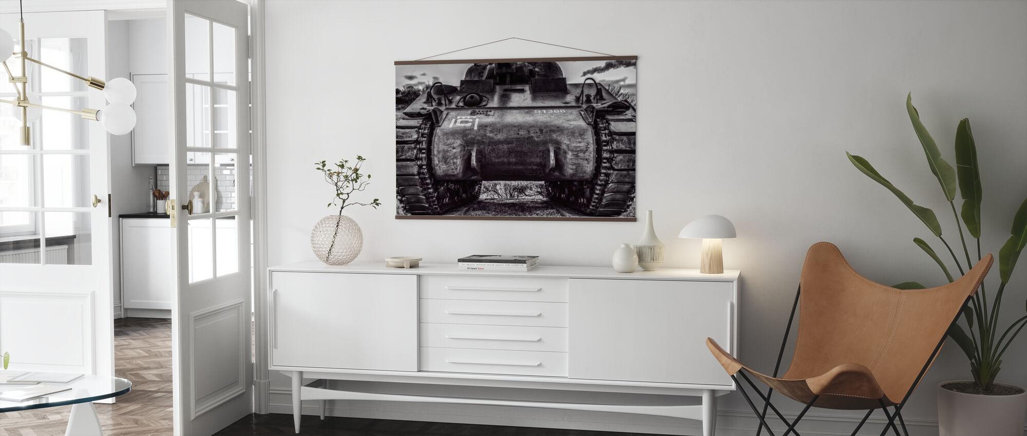 Old War Tank - Poster - Living Room