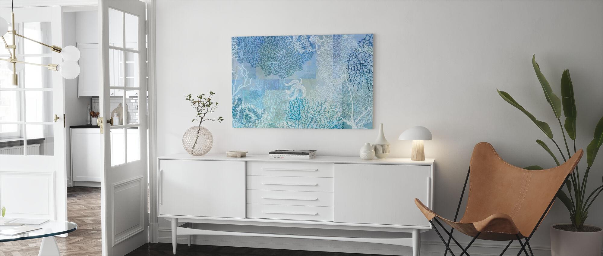 Blue Sea Water - Canvas print - Living Room