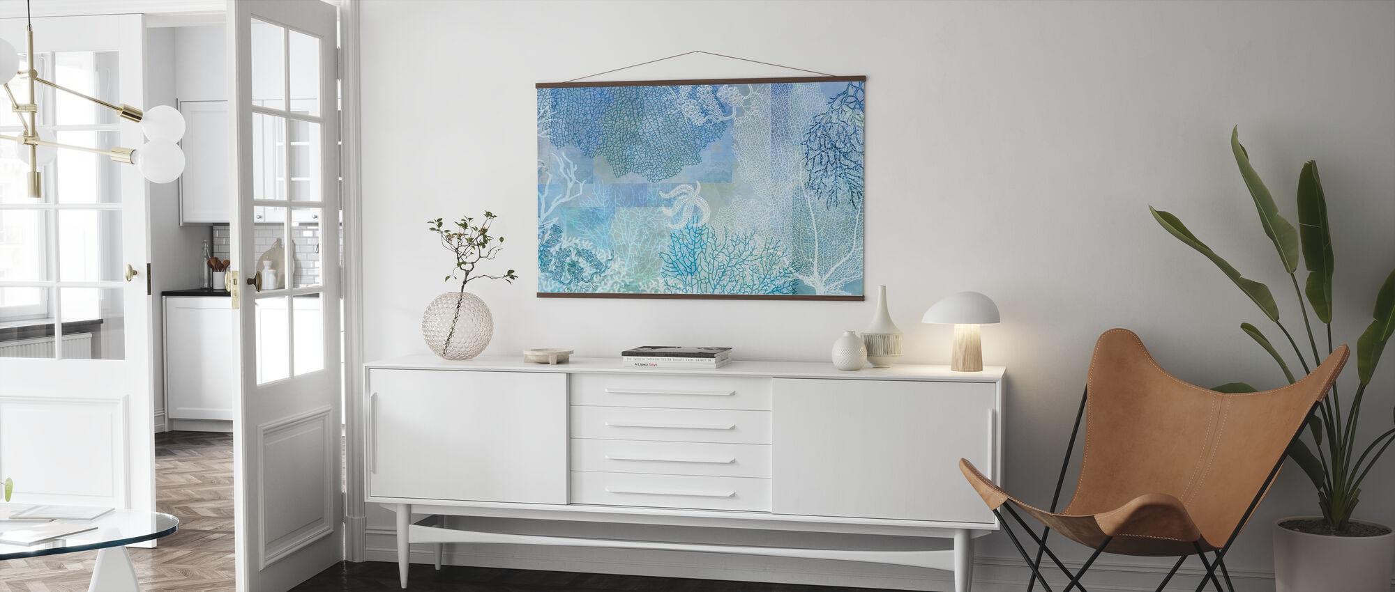 Blå Havsvatten - Poster - Vardagsrum