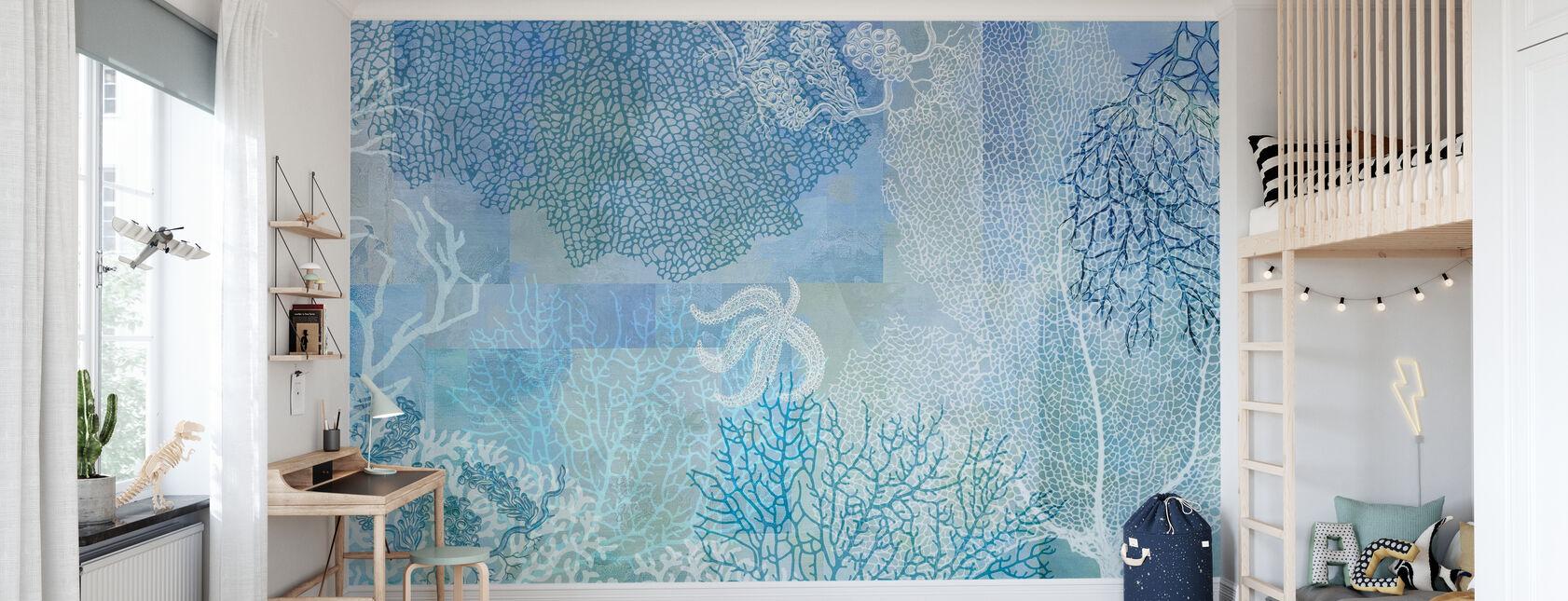 Acqua di Mare Blu - Carta da parati - Camera dei bambini
