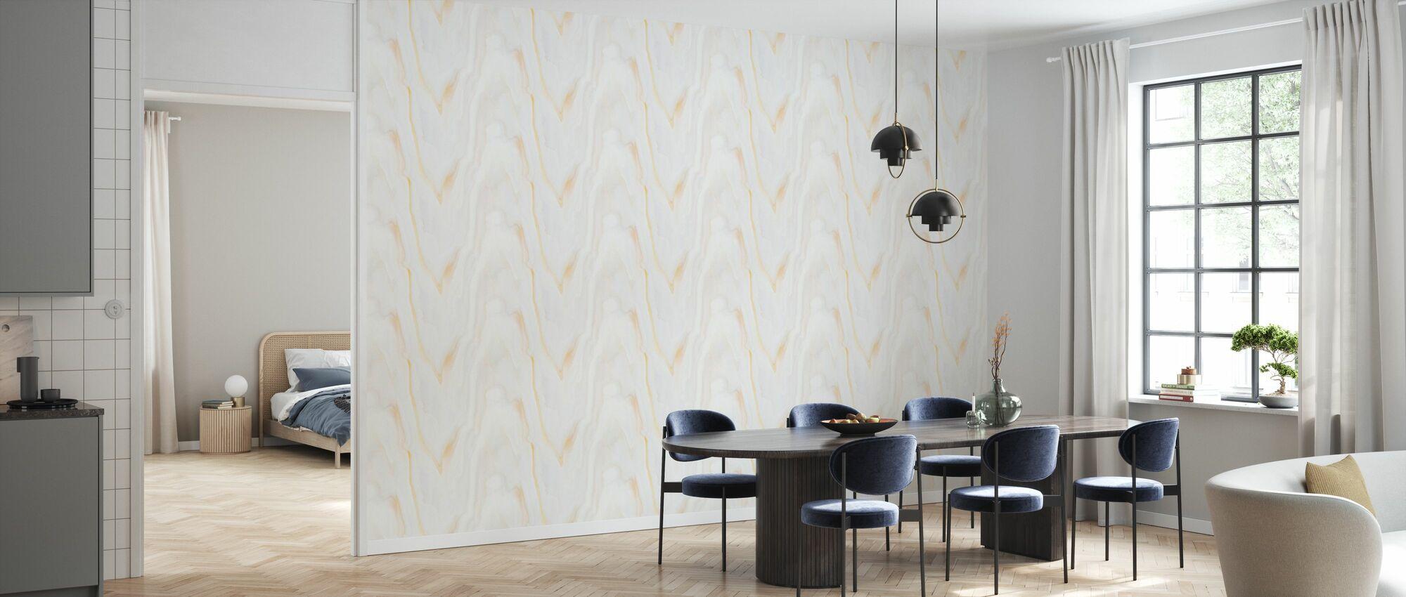 Alabaster med årer av gull II - Tapet - Kjøkken