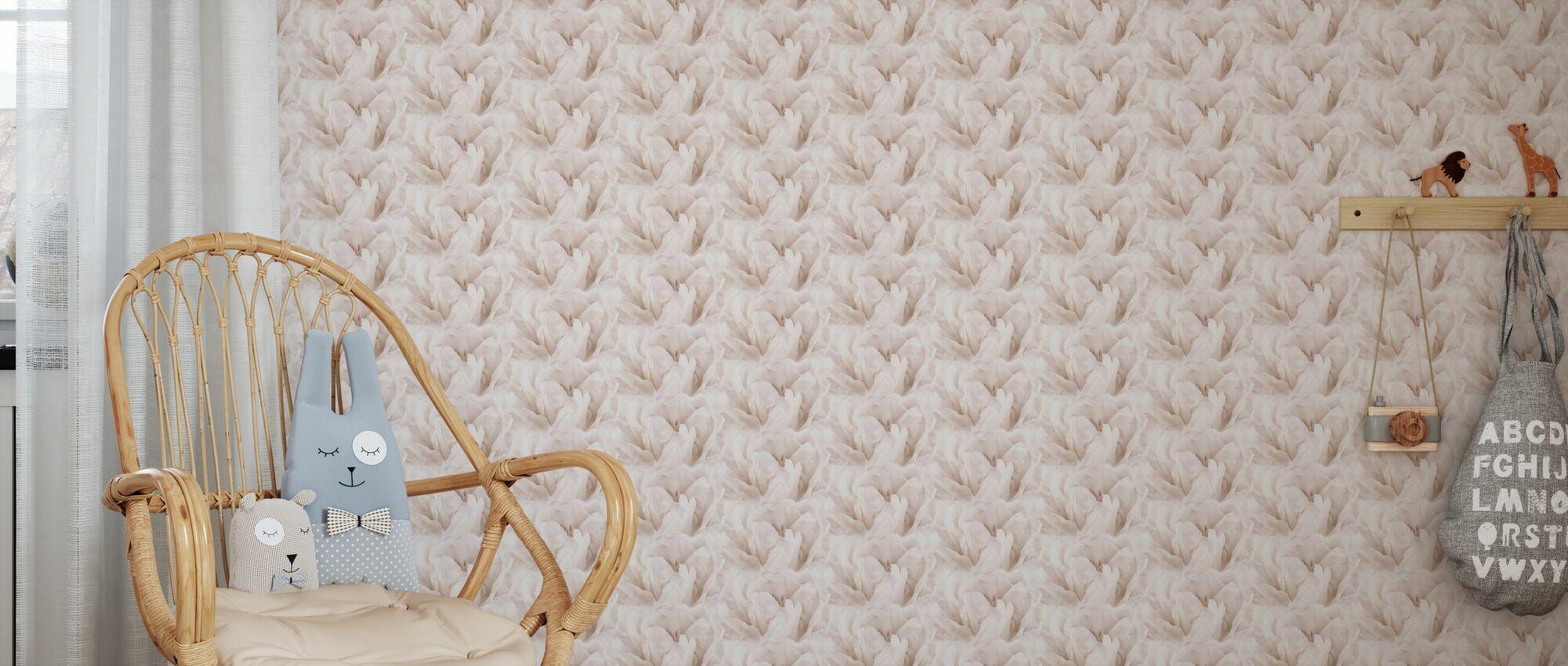 Paper Tulips - Wallpaper - Kids Room