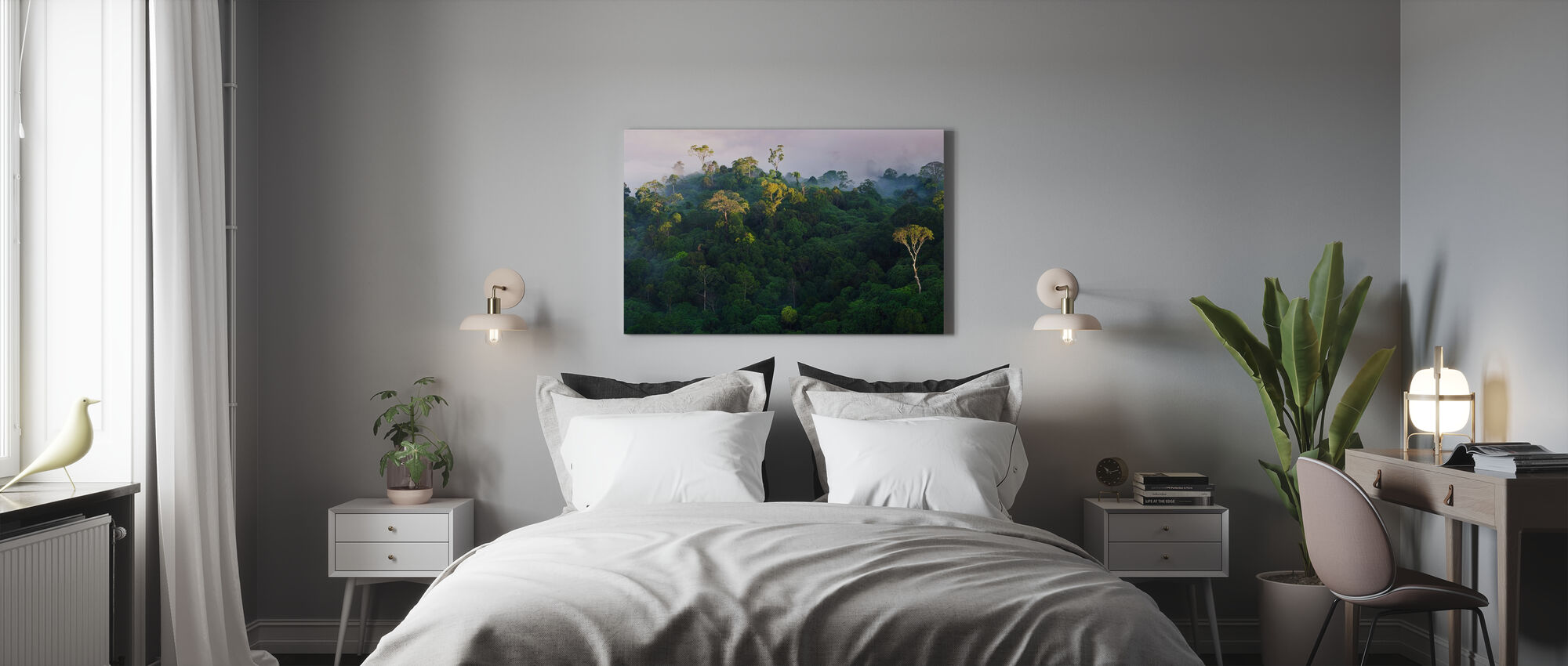 Sunrise at Lowland Rainforest - Canvas print - Bedroom
