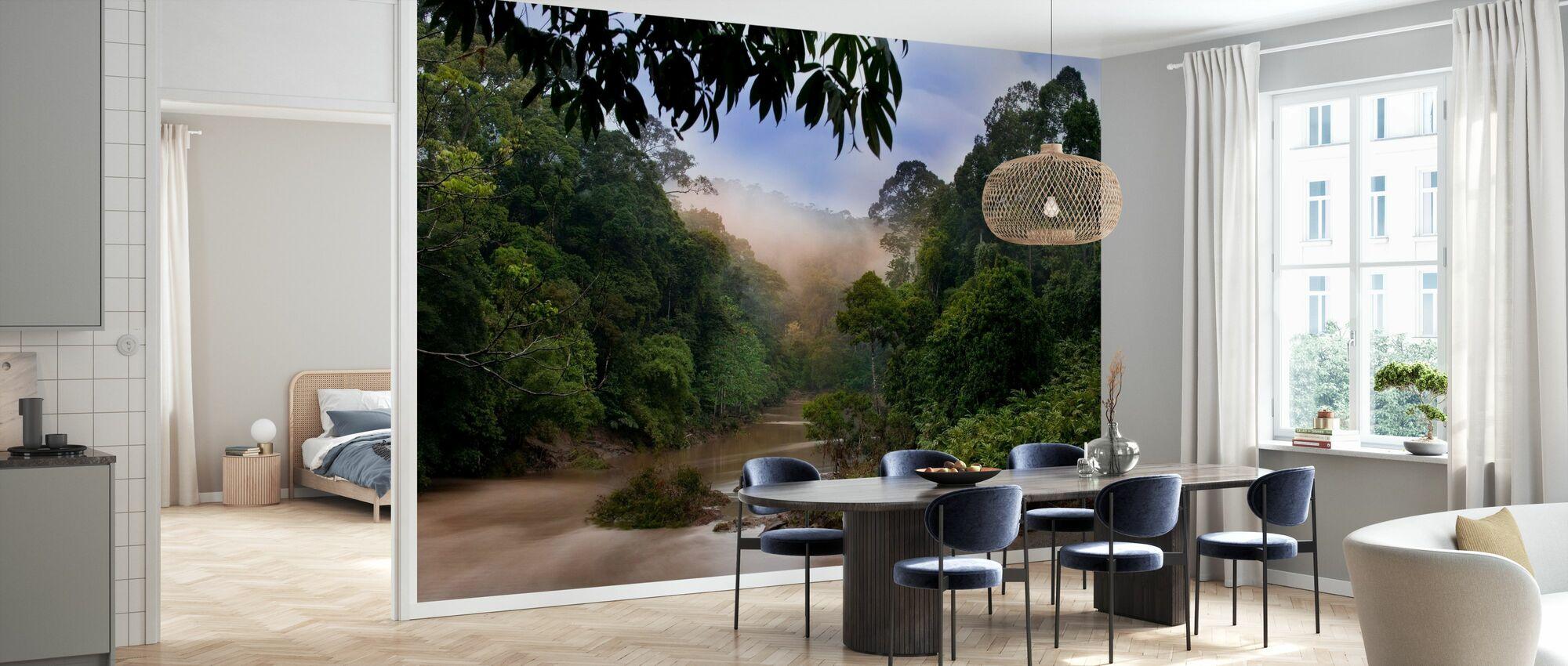 Segama Fluss und Regenwald - Tapete - Küchen
