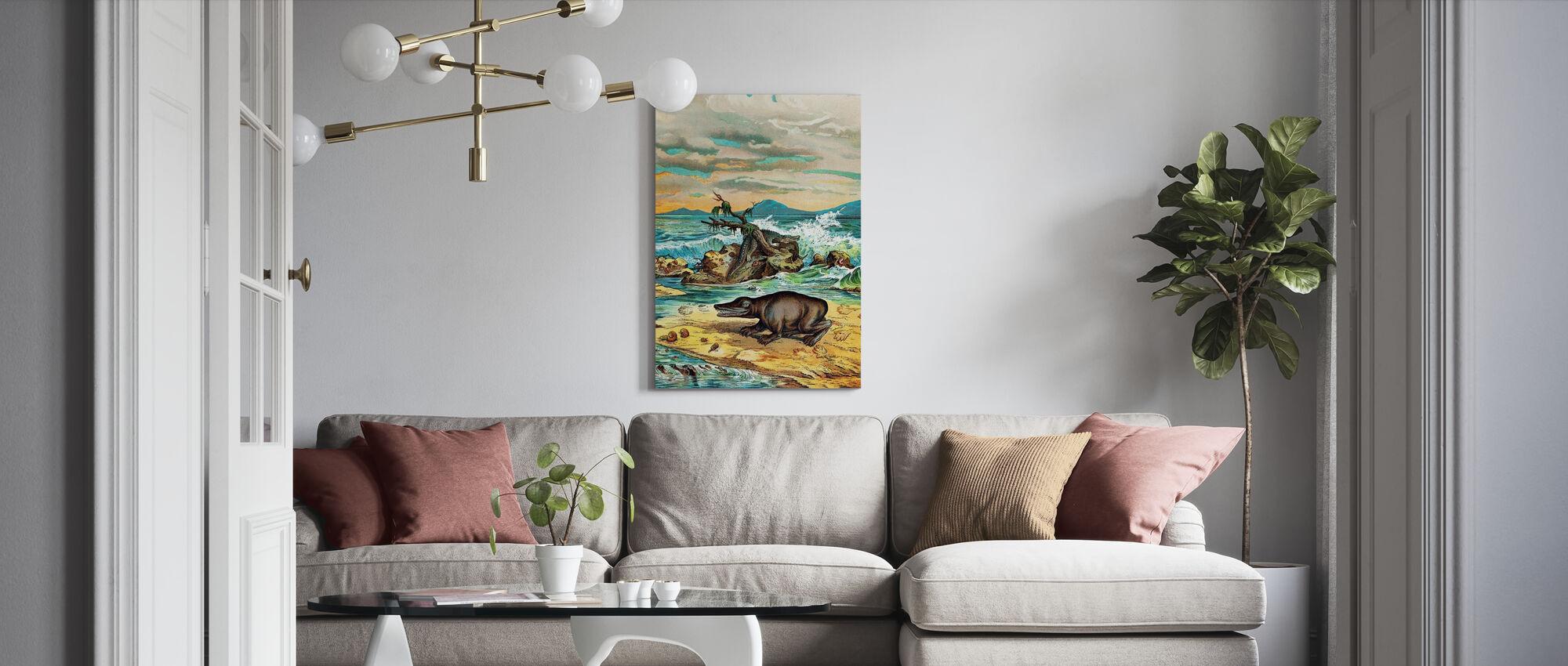 Triassic Coastal Environment - Canvas print - Living Room