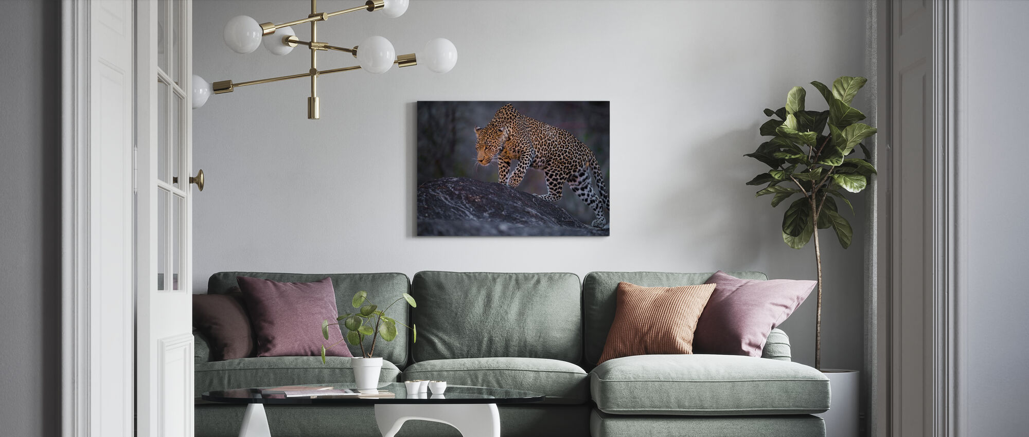 Leopard Male - Canvas print - Living Room