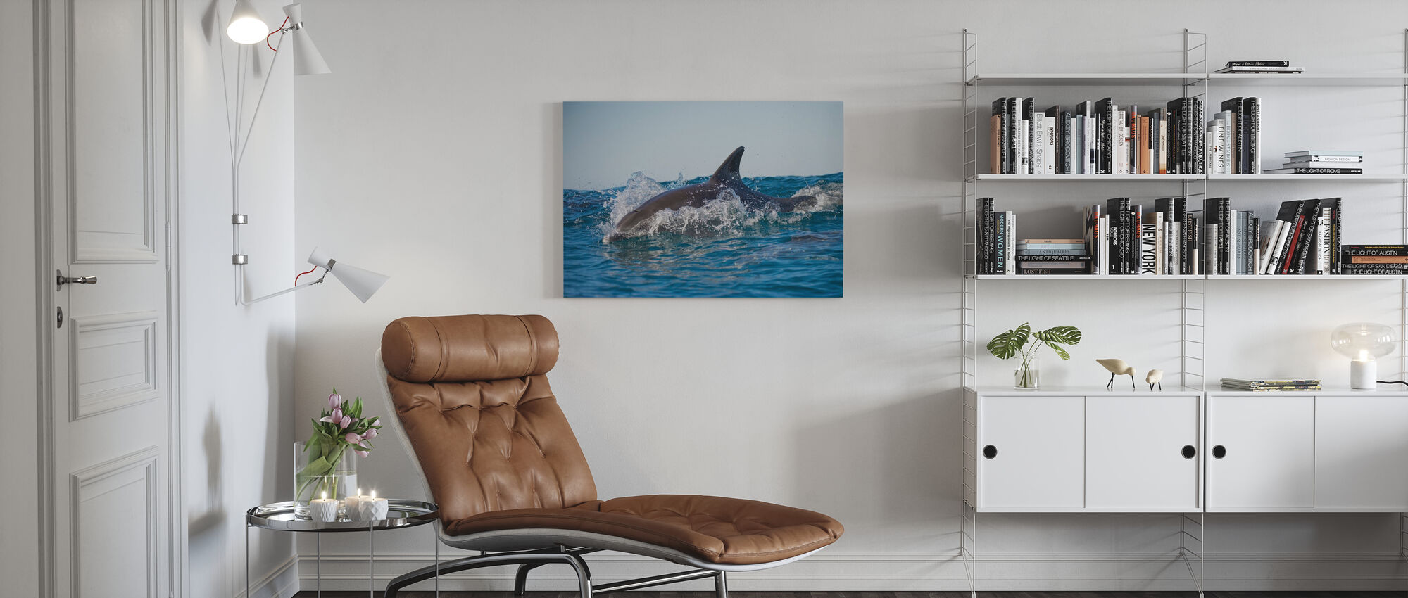 Bottlenose delfin - Lerretsbilde - Stue