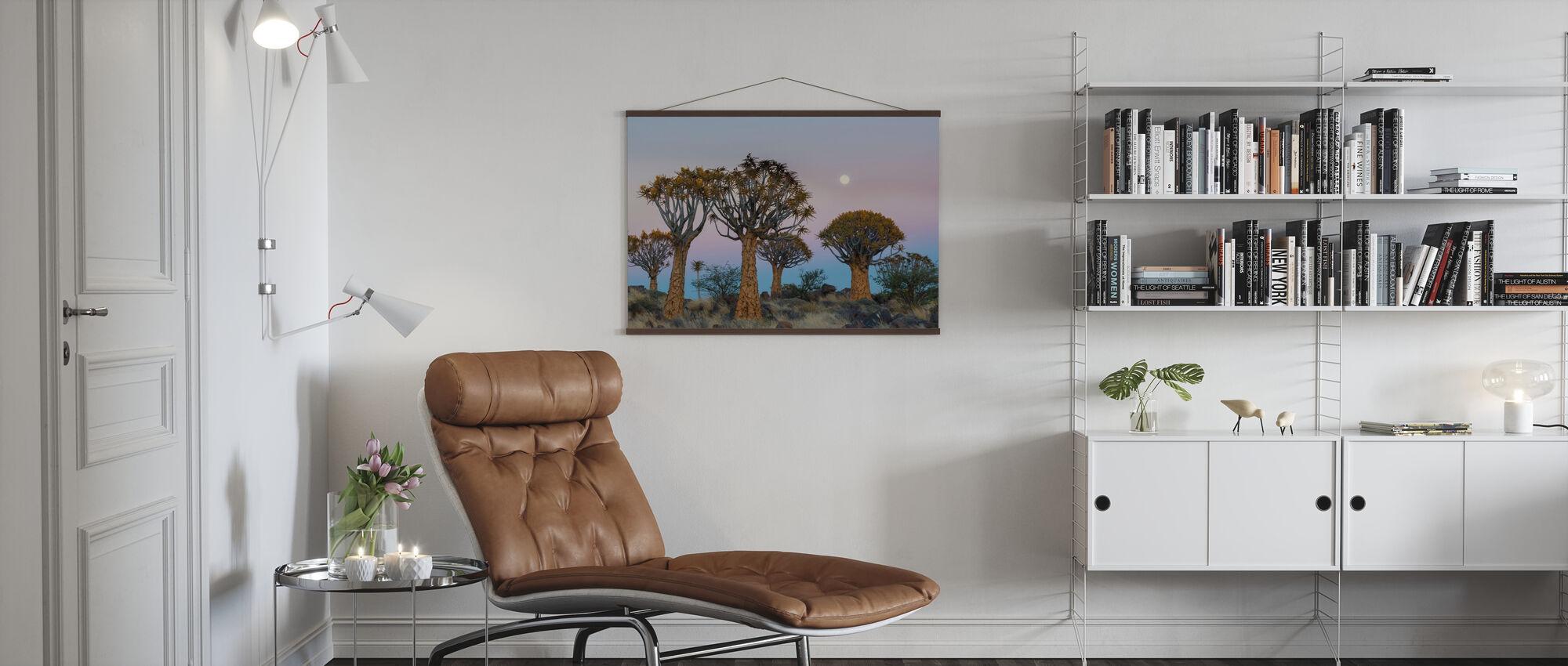 Kviver trær og månen - Plakat - Stue