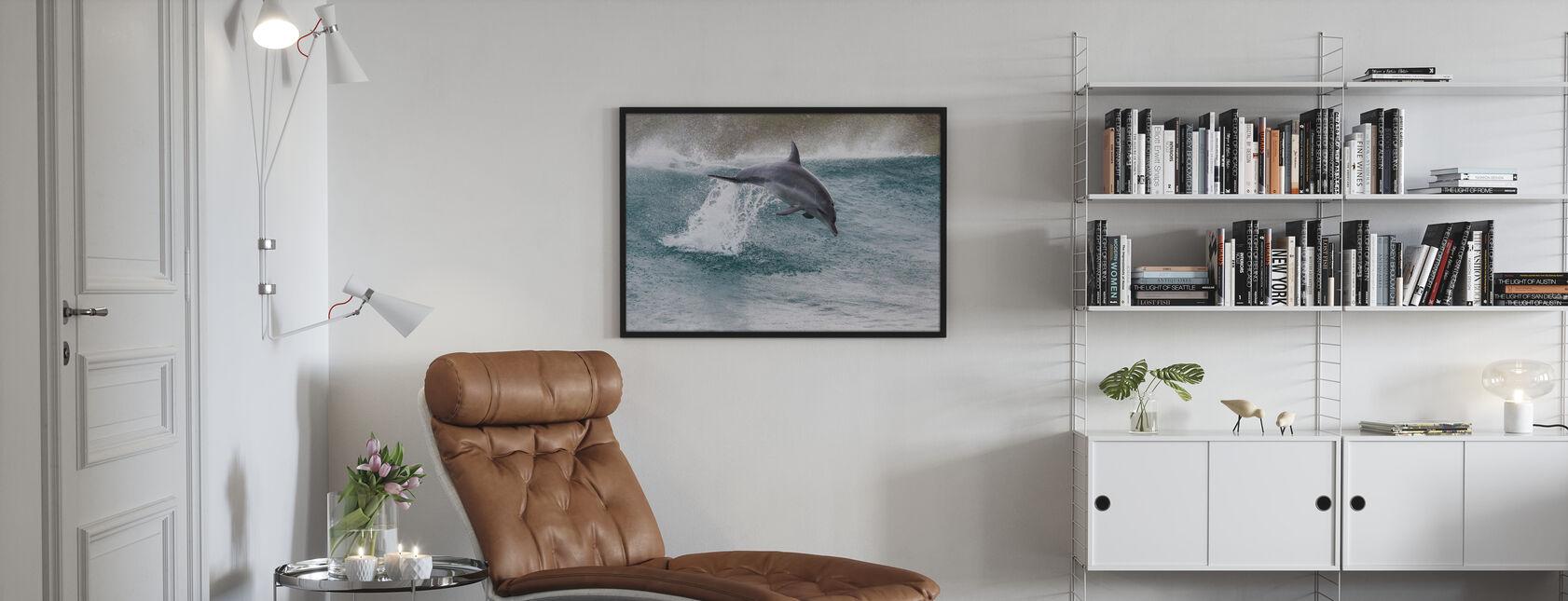Indo-Pacific flasknosdelfin - Inramad tavla - Vardagsrum