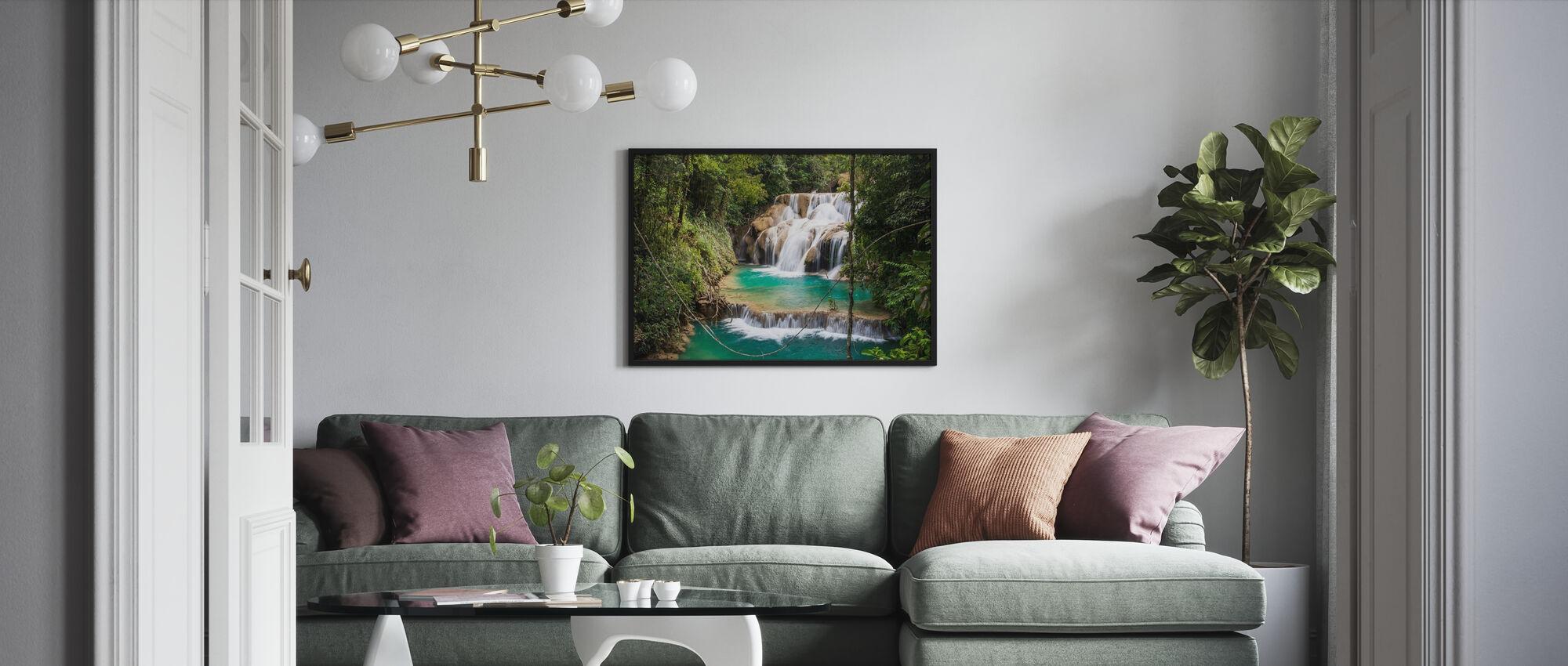 Las Golondrinas Waterfalls - Poster - Living Room