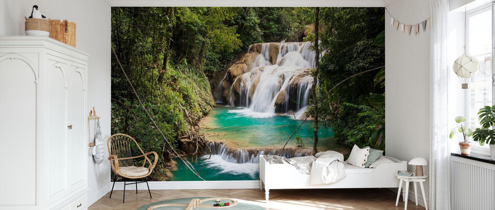 Las Golondrinas Waterfalls - Wallpaper - Kids Room