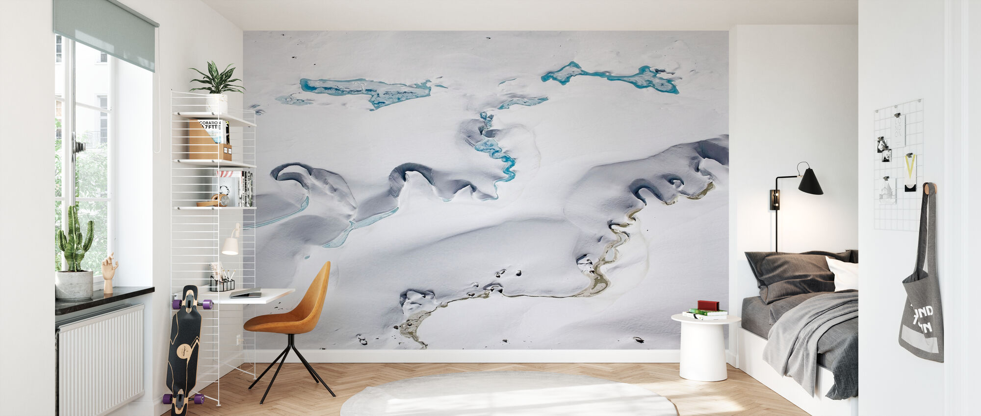 Gorner Glacier with Meltwater Channels - Wallpaper - Kids Room