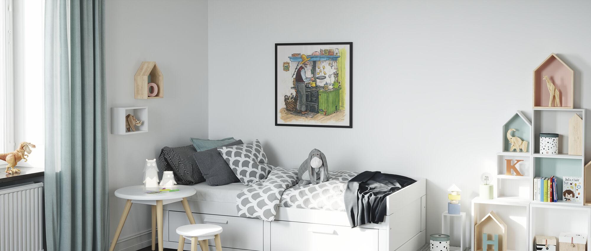 Findus verhuist - Ingelijste print - Kinderkamer