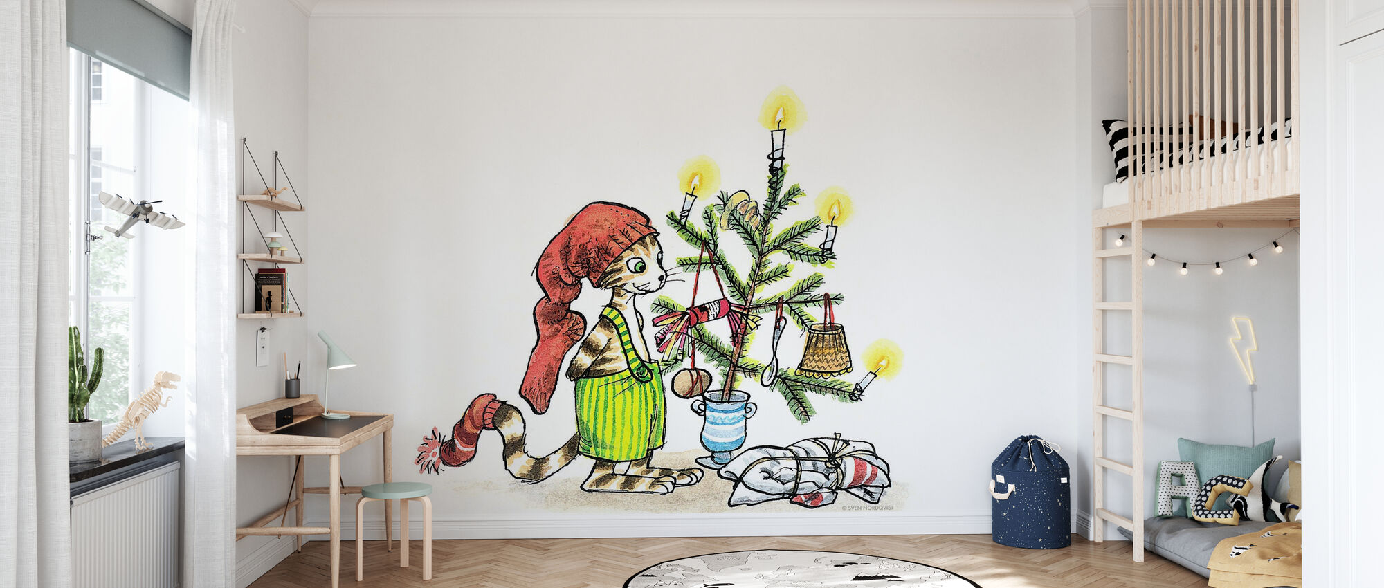 Pettson gets Christmas visits - Wallpaper - Kids Room