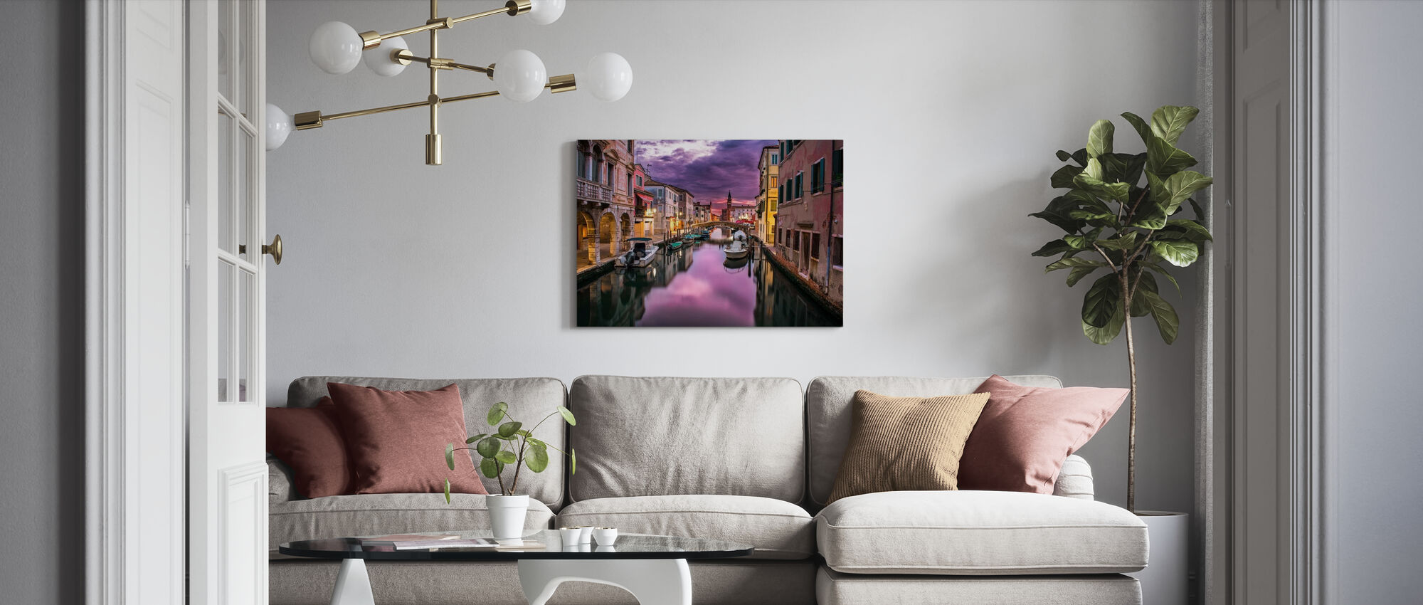 Canal in Venice - Canvas print - Living Room