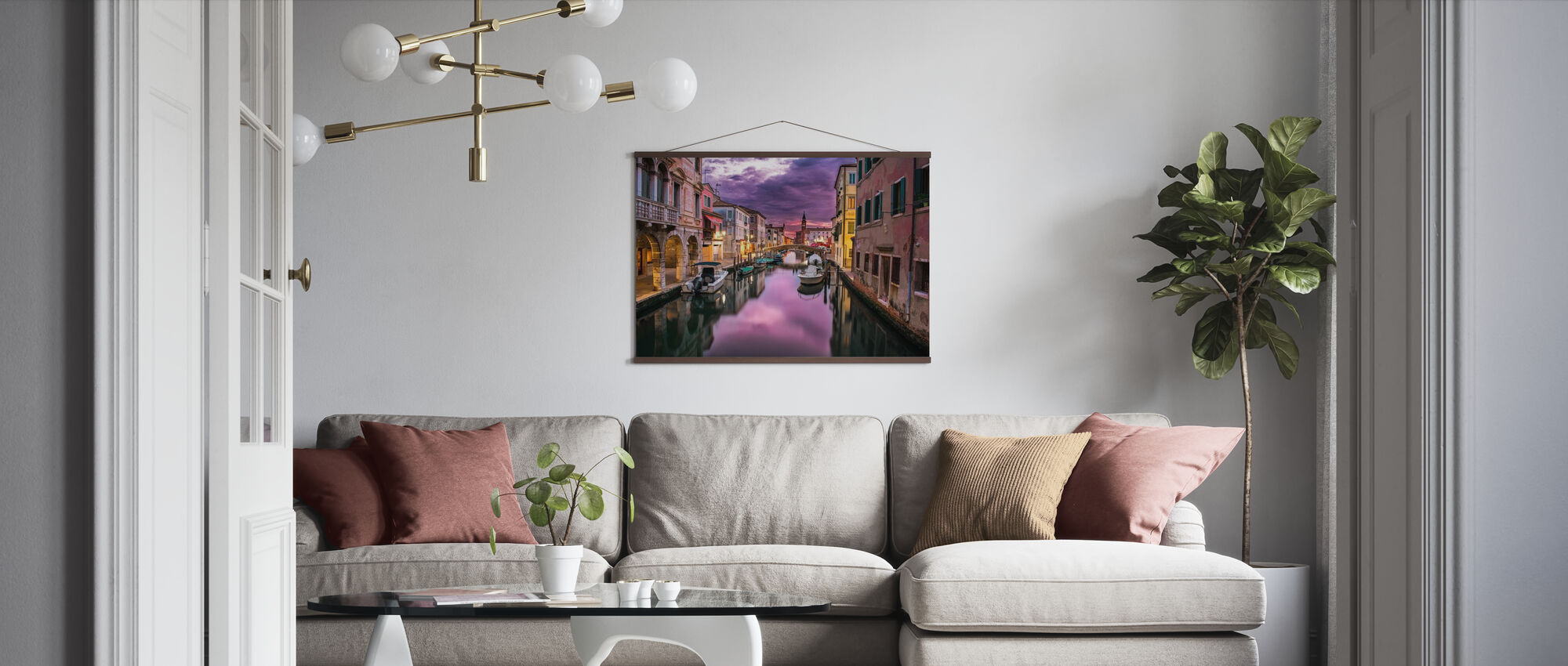 Kanal i Venedig - Poster - Vardagsrum