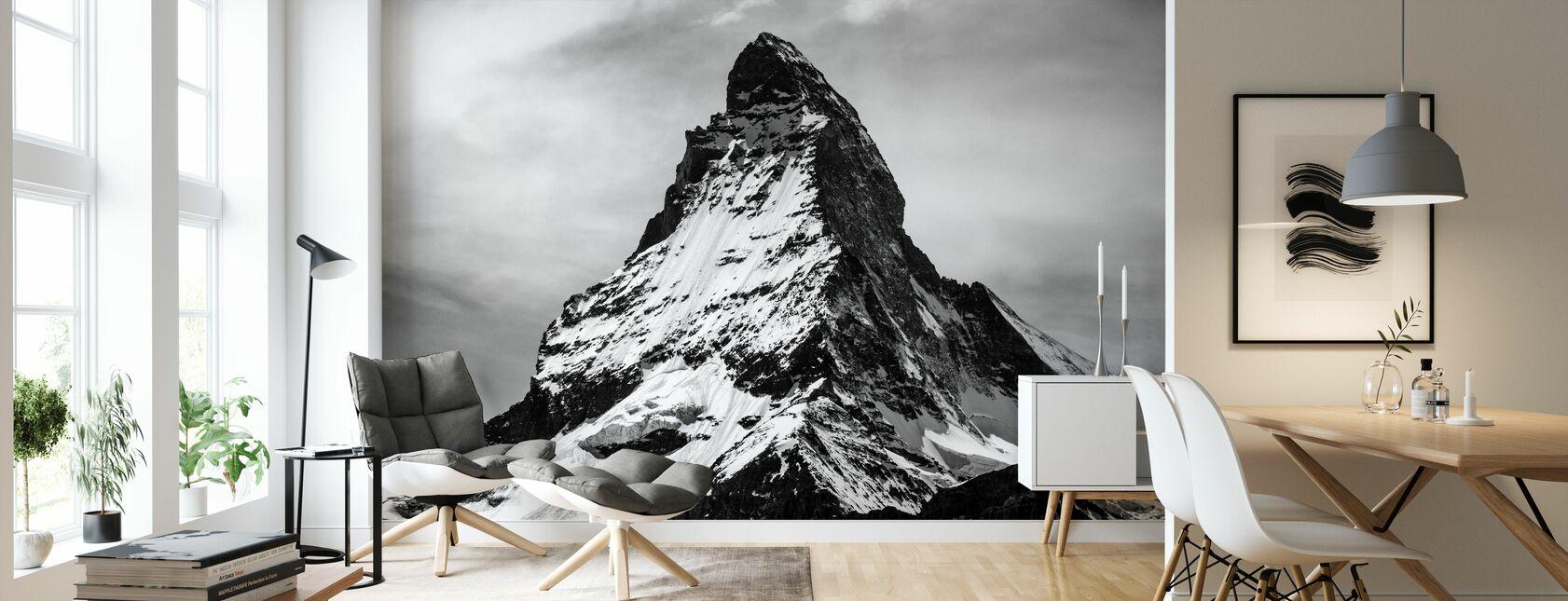 Top van de berg - Behang - Woonkamer