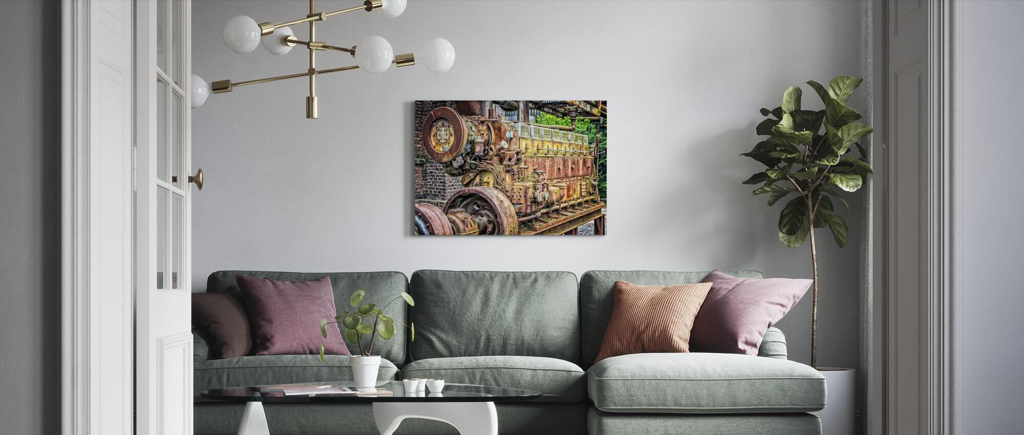 Rusty Machine Motor - Canvas print - Living Room