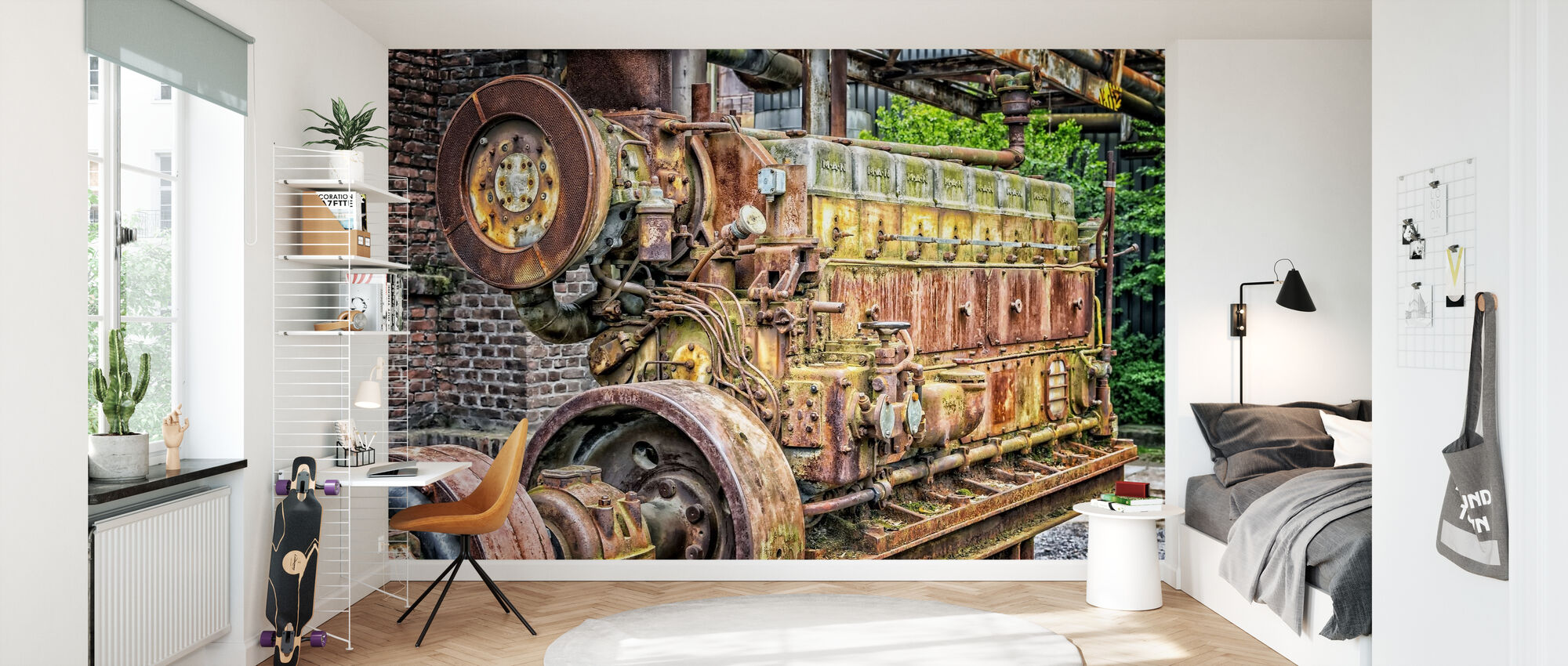 Rusty Machine Motor - Wallpaper - Kids Room