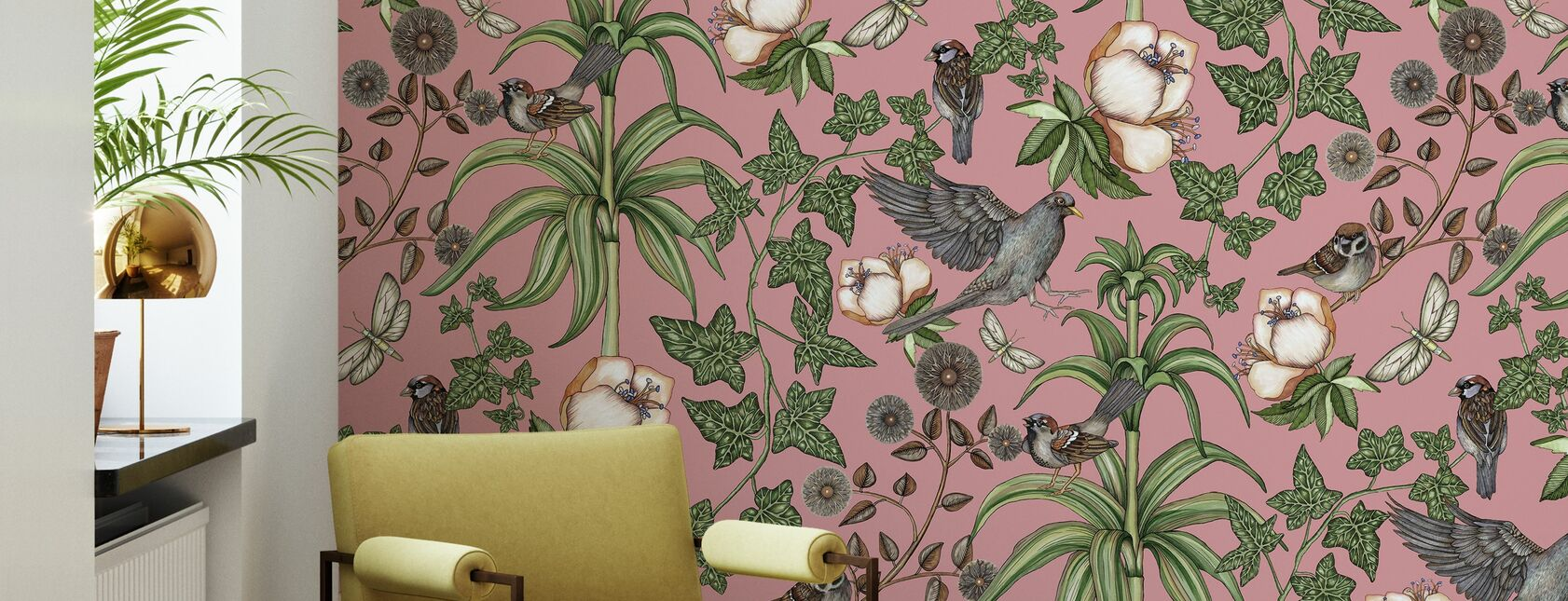 Ivy Rose - Wallpaper - Living Room