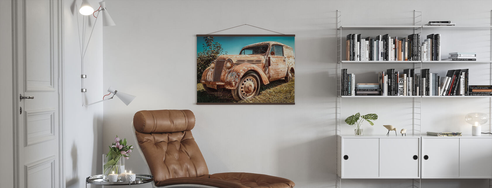 Old Renault Juvaquatre - Poster - Wohnzimmer
