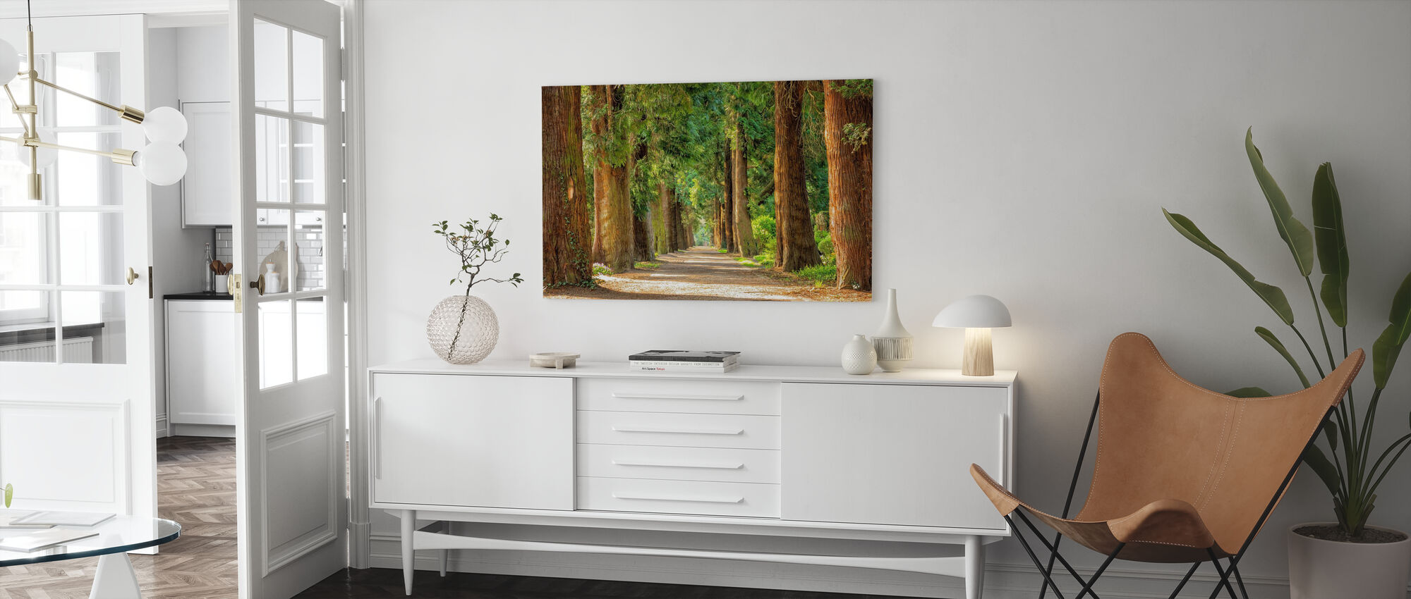 Pathway Between Trees - Canvas print - Living Room