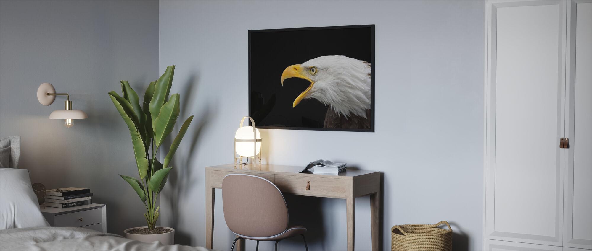 Skaldet ørn - Indrammet billede - Soveværelse
