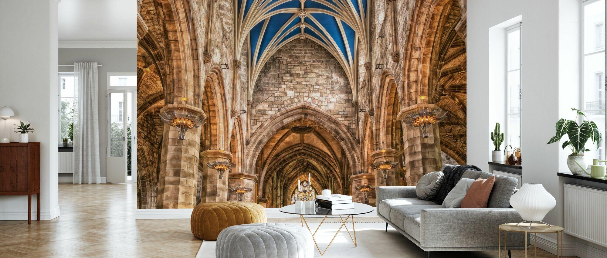 Cathedral Pillars - Wallpaper - Living Room