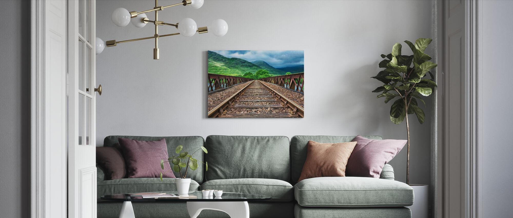 Järnvägsbro spår - Canvastavla - Vardagsrum