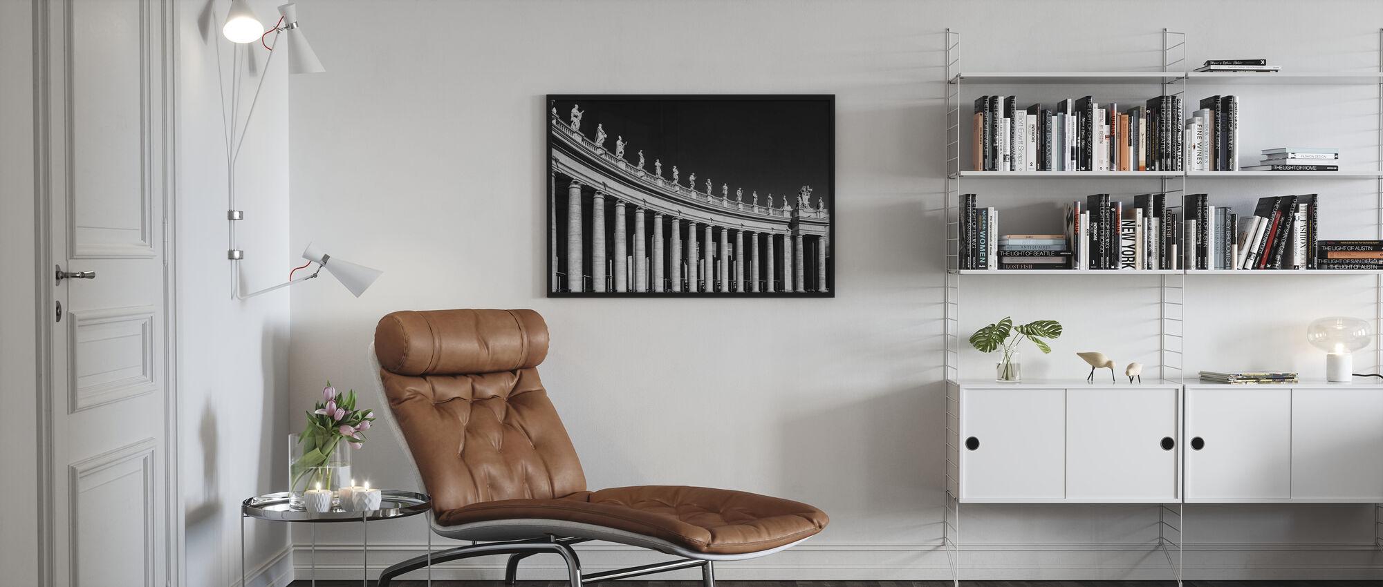Columnar Sculpture - Framed print - Living Room