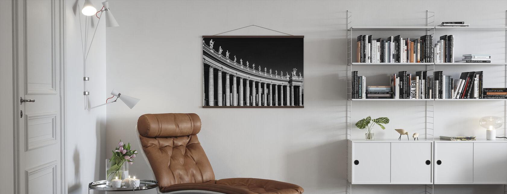 Kolonneformet skulptur - Plakat - Stue