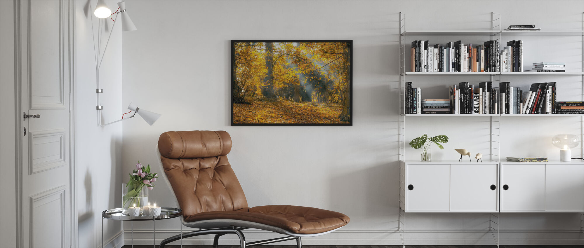 Yellow Autumn Leaves - Poster - Living Room