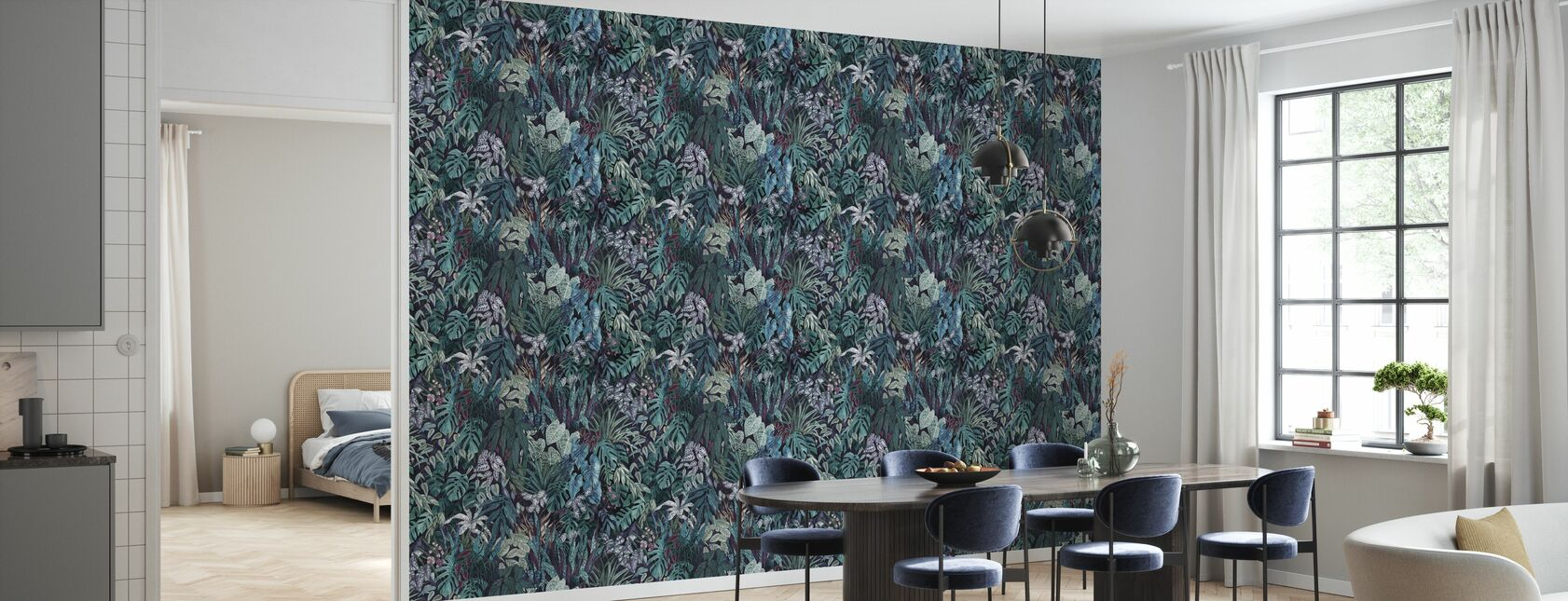 Tanglewood Forest Veridian - Wallpaper - Kitchen