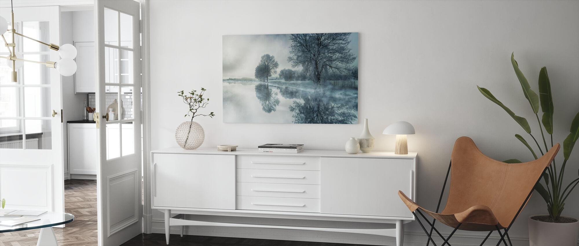 Mirror järvi - Canvastaulu - Olohuone