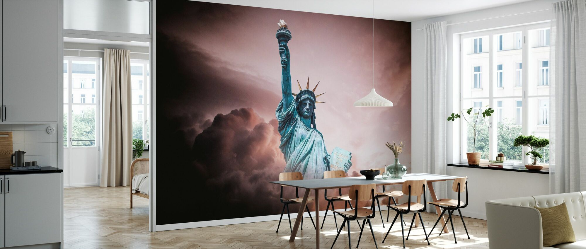 Statue of Liberty in Clouds - Wallpaper - Kitchen