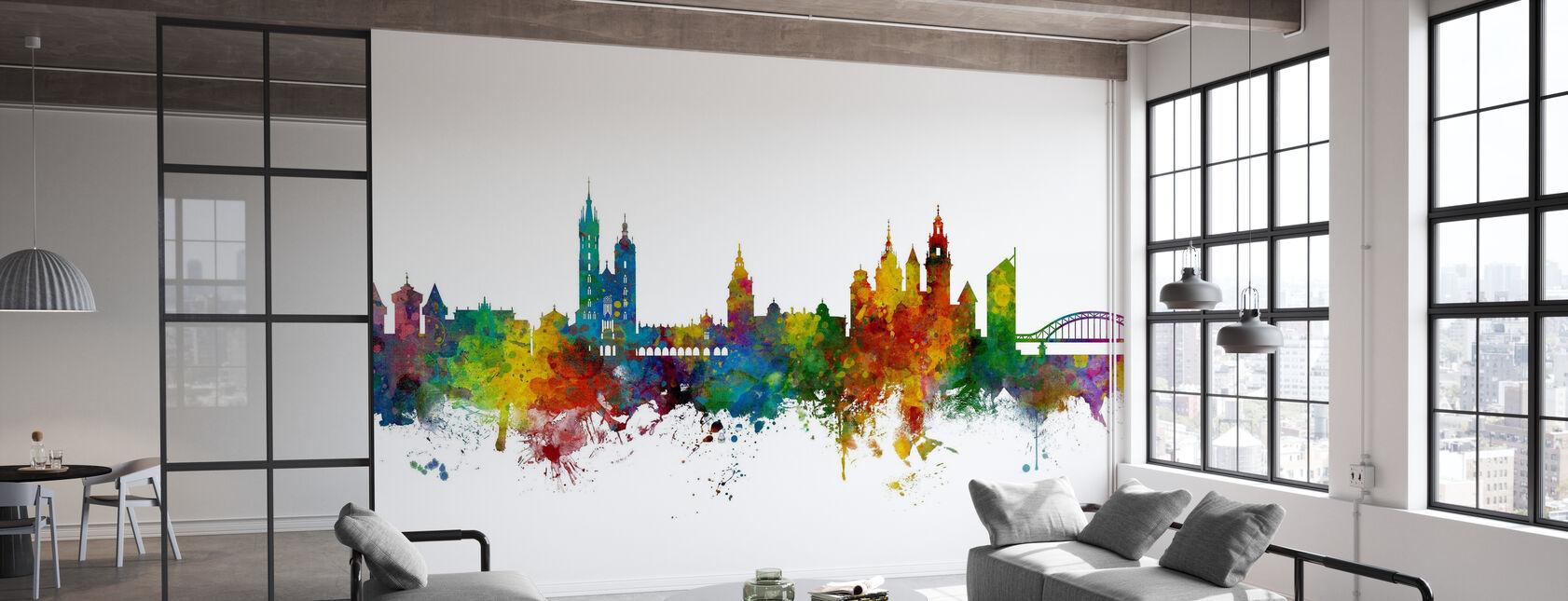 Krakow Poland Skyline - Wallpaper - Office