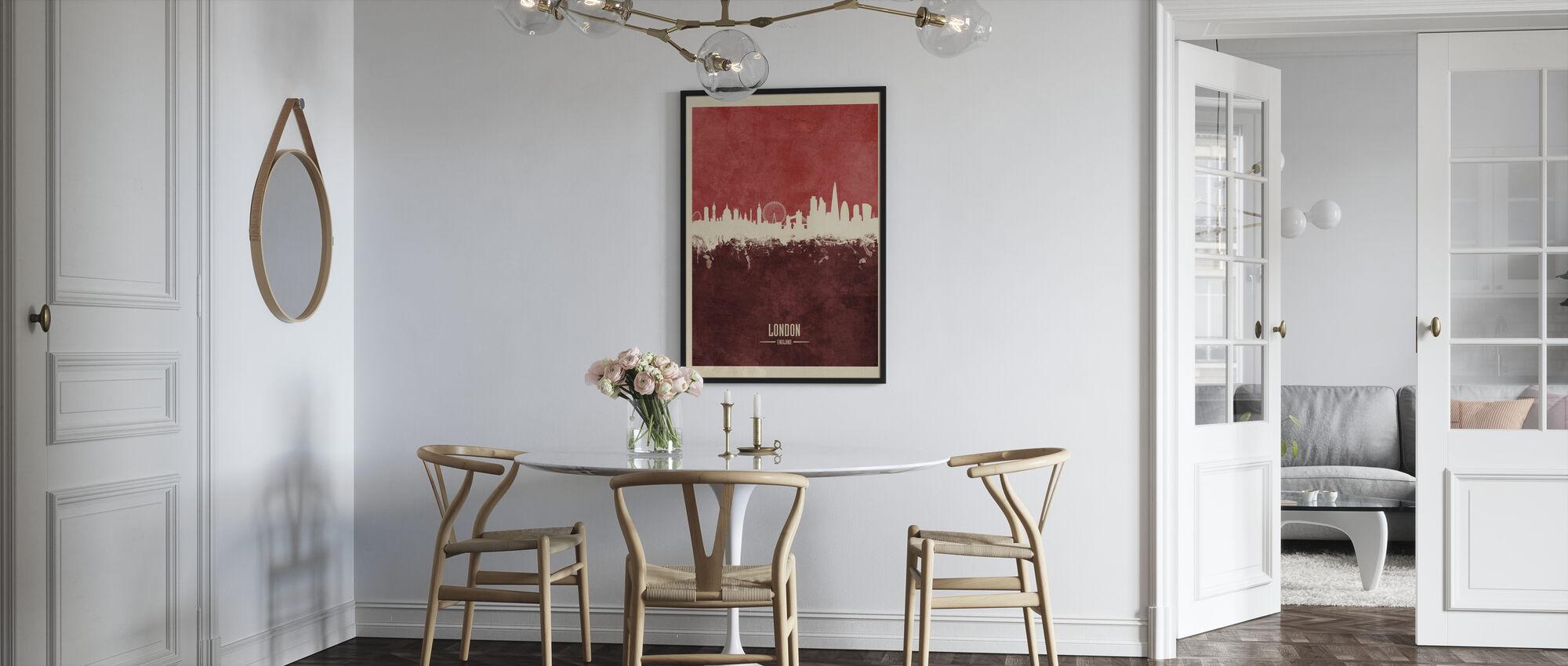 London England Skyline Red - Poster - Kitchen