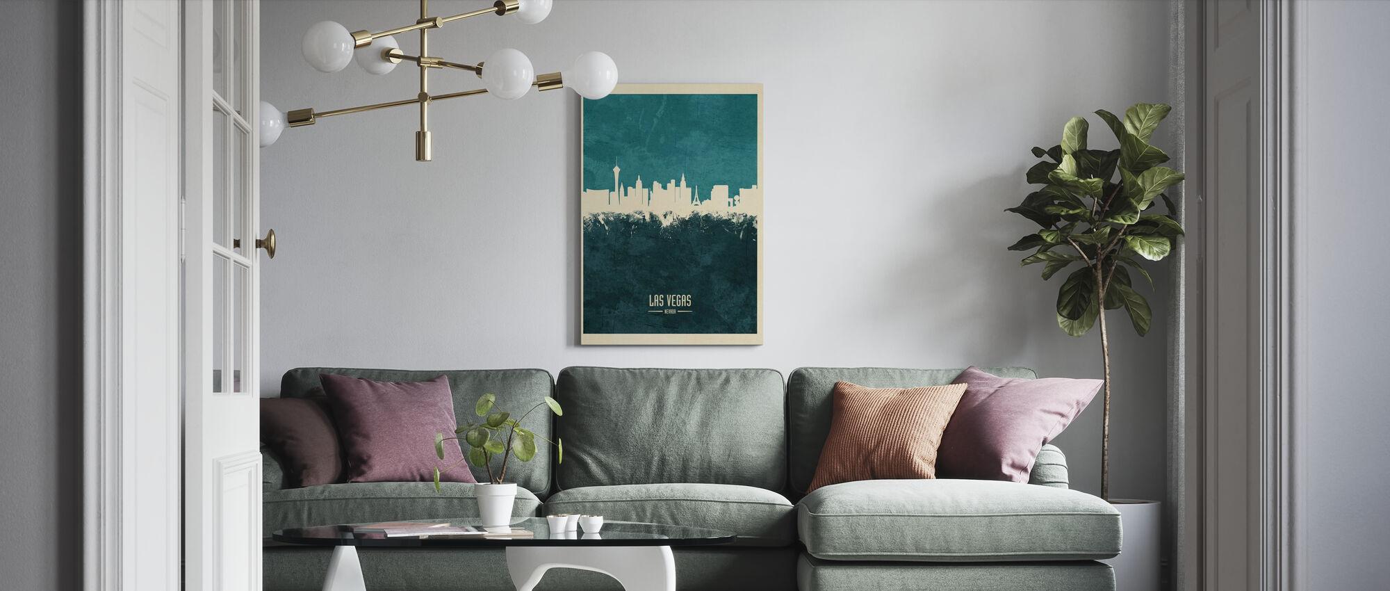 Las Vegas Nevada Skyline Blue - Canvas print - Living Room