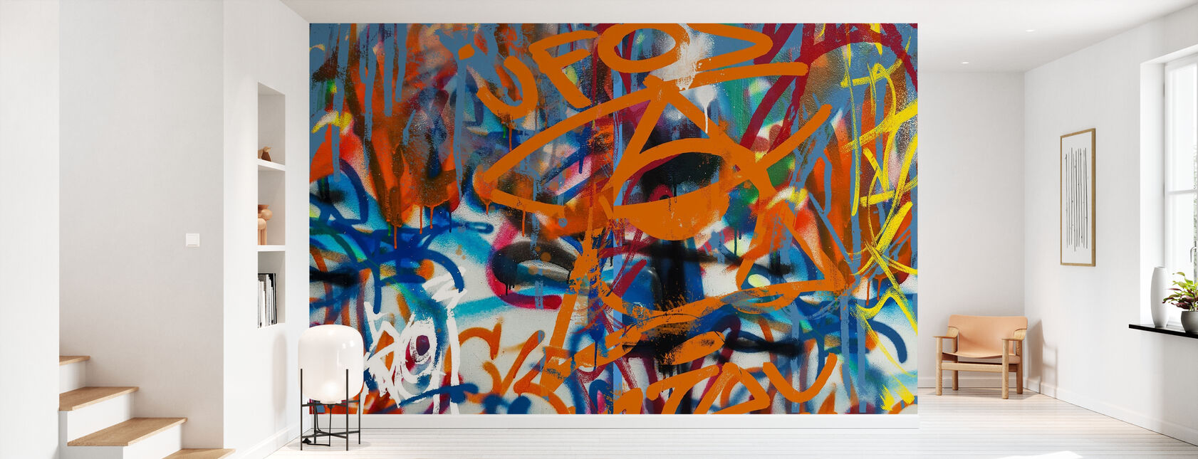 Graffiti Abstract Art - Wallpaper - Hallway