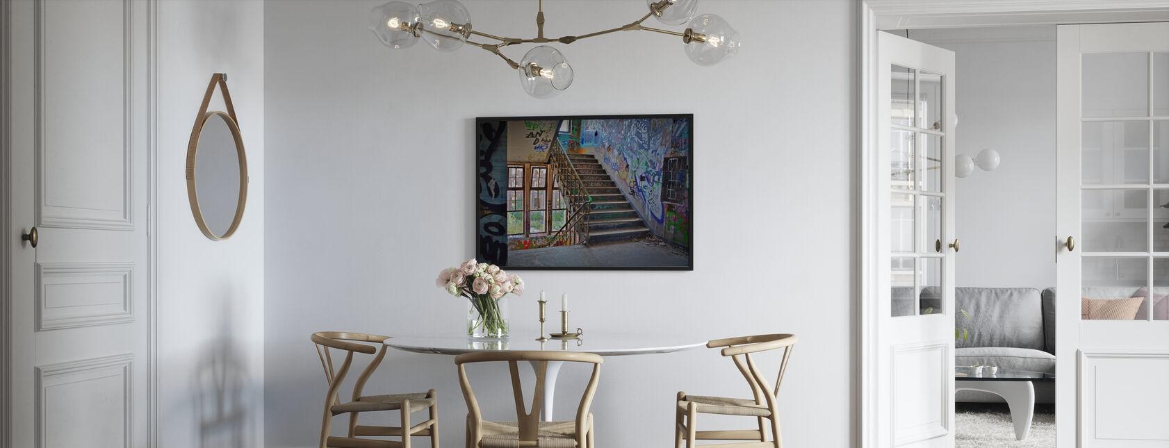 Industriebauung Treppenhaus - Gerahmtes bild - Küchen