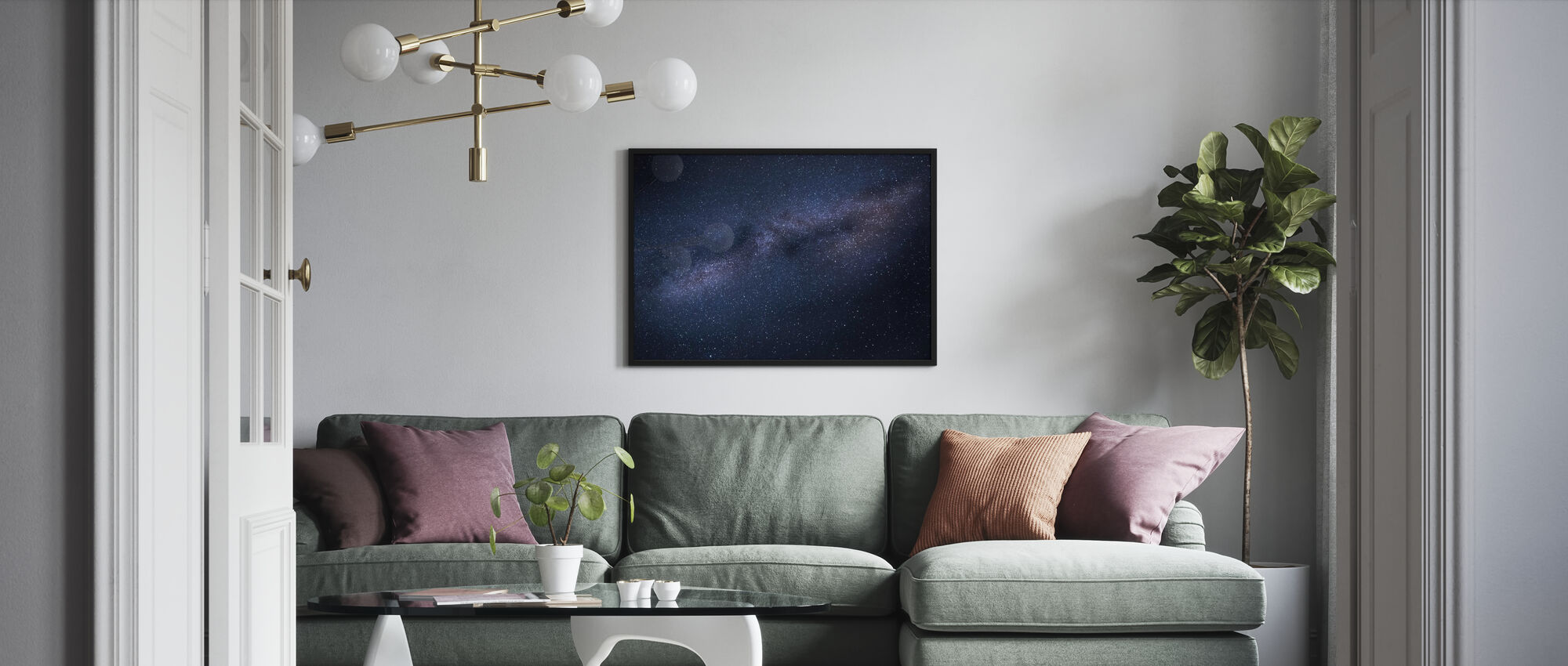 Linnunradan pilvikuva - Kehystetty kuva - Olohuone