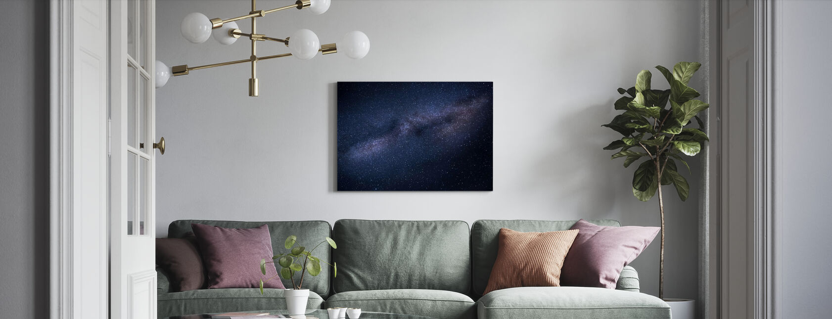 Skyscape della Via Lattea - Stampa su tela - Salotto