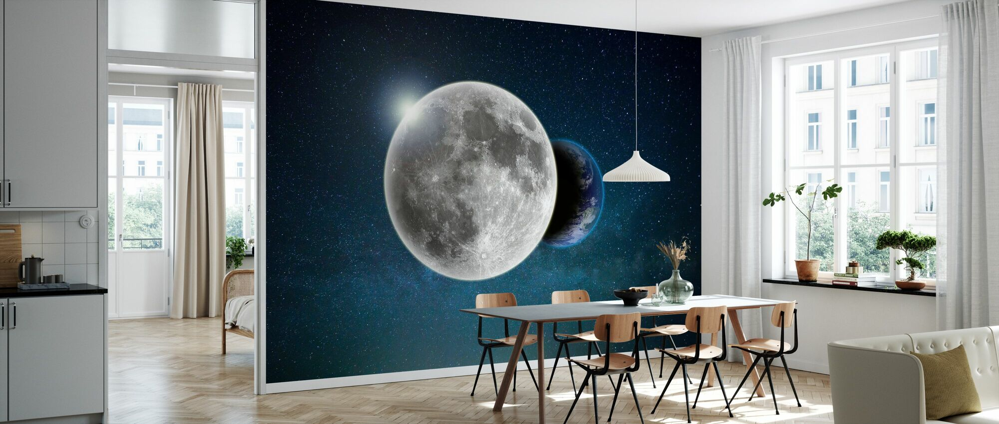 Earth and Moon - Wallpaper - Kitchen