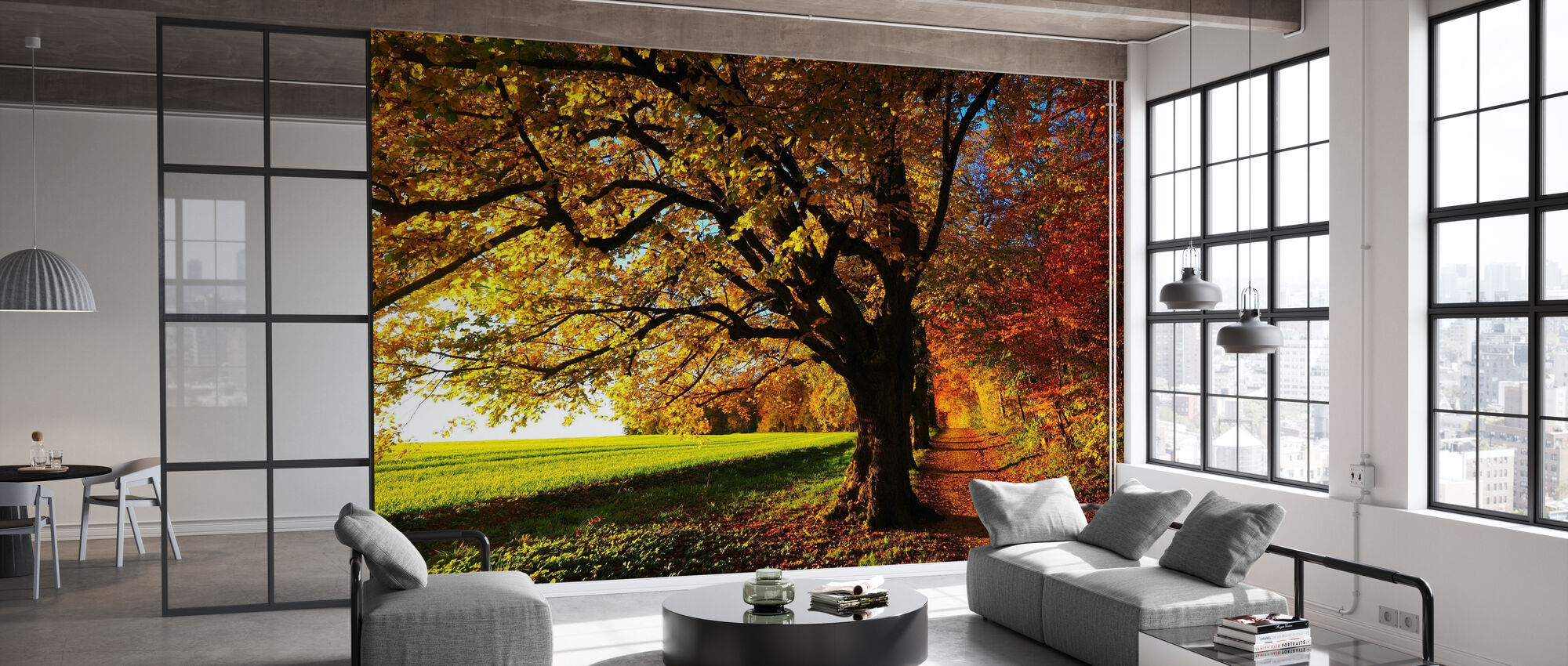 Forest Trail and Field - Wallpaper - Office