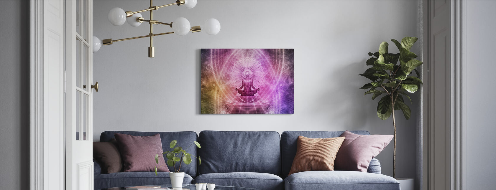 Spirituelle Meditation - Leinwandbild - Wohnzimmer